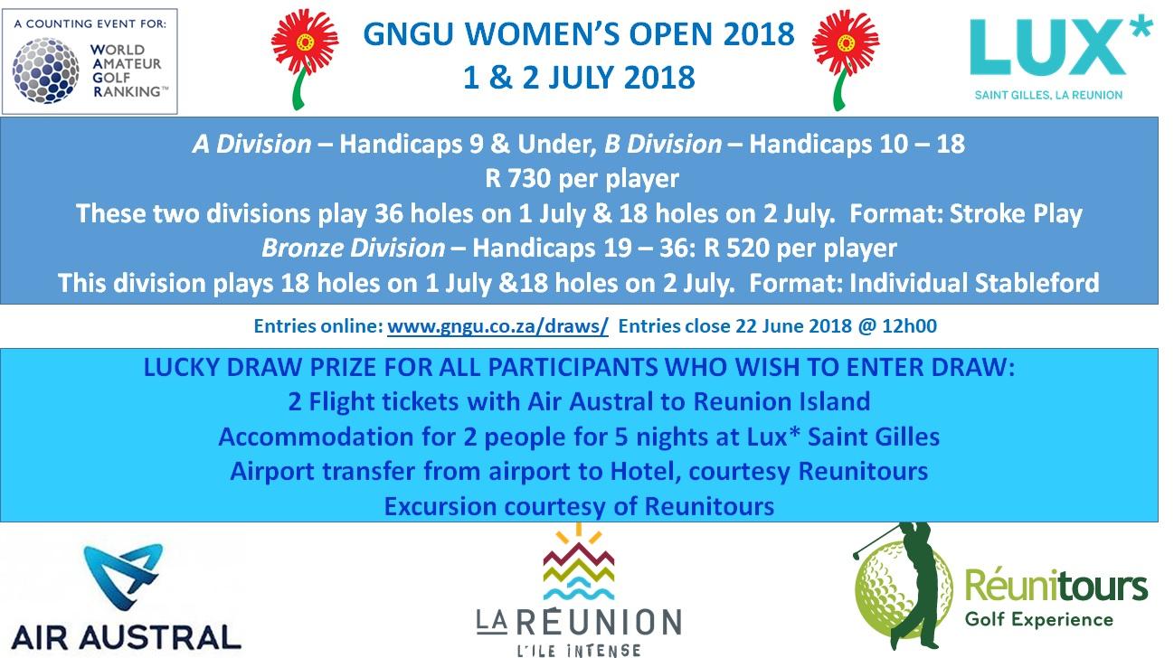 materiales de alta calidad ventas especiales baratas para la venta GNGU Womens Open | Gauteng North Golf Union